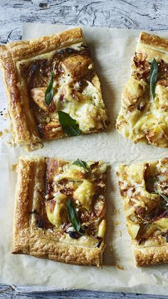 an easy vegetarian puff pastry tart thats a fantastic way to use up leftover potatoes