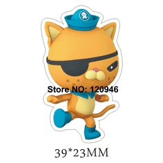 50pcs/lot 39*23MM UK Cartoon Character Orange Cat Flat Back Resin Planar DIY Crafts For Home Decoration Accessories 70420-3