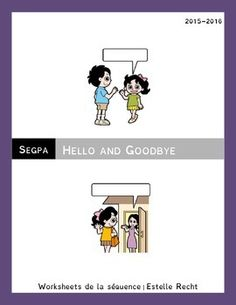 Worksheet Bundle Hello and Goodbye 6e segpa
