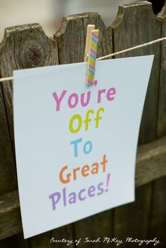 """""""Oh, The Places You'll Go!"""" First Birthday Party by Al Di La Events - Party Signs, Dr. Seuss"""