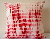 Decorative Throw Pillow Cover - Pink/ Dark Blue - Artistic Stained - Hand Dyed Fabric - 14 x 14 - Batik - Tie Dye - Shibori. $29.00, via Etsy.