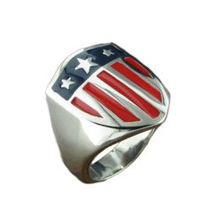 Sterling Silver Filigree, Sterling Silver Necklaces, Buy Rings, Women's Rings, Stainless Steel Rust, Simple Earrings, American Flag, Men's Jewelry, Sterling Necklaces
