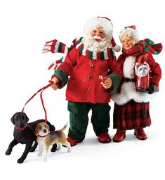 Official Site for Christmas Villages, Snowbabies, Possible Dreams Santas, and Christmas Decorations - Department 56 Father Christmas, Christmas Art, All Things Christmas, Modern Christmas, Christmas Ideas, Christmas Ornaments, Santa Figurines, Collectible Figurines, Department 56 Christmas Village
