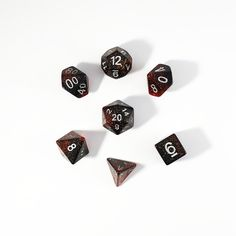 Red Galaxy Polyhedral Dice Set $6 www.dicetreasure.com