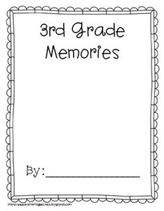 This simple end of the year memory book is just the thing for those last few days of school and will give your students a keepsake to treasure!I printed the cover on bright cardstock and bound the rest of the pages inside.Students will write about themselves, their school, teacher, and favorite trip, party, event, and friend.An autograph page and summer contacts page are both included.Cover pages for grades 1-6 are included.Enjoy for free.