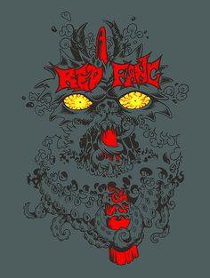 Daniele Pasquetti - Red Fang t-shirt idea (mail: danielepasquetti1@gmail.com) #redfang #t-shirt #tentacles #evileyes