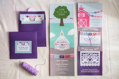 Papel Picado Fun Wedding Invitations