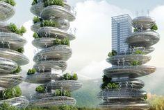 "Self-Sustaining ""Farmscrapers"" are Cities in Stackable Steel Rocks"
