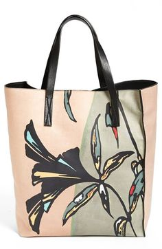 Marni Print Leather Tote available at #Nordstrom