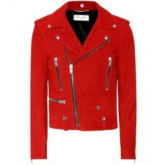 Women Suede Leather Jacket Red Biker Motorcycle lambskin All Size - Coats & Jackets Saint Laurent, Biker Style, Jacket Style, Suede Leather Jacket, Leather Jackets, Real Leather, Leather Men, Sandro, Riders Jacket