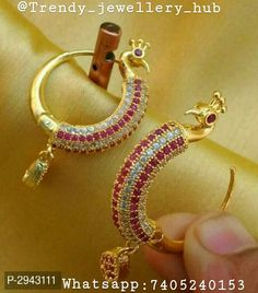 Shipping free with cod facility Beautiful Rajwadi Stylish Earrings Color : Golden Material : Alloy Best collection of stylish trendy earrings design. Very much stylish and rich look appearance for women. Indian Jewelry Earrings, Jewelry Design Earrings, Gold Earrings Designs, Gold Hoop Earrings, Gold Jewellery, Buy Earrings, Gold Hoops, Jewelry Sets, Bridal Jewelry