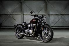 Triumph Bonneville Bobber 2017 #motorcycles #bobber #motos | caferacerpasion.com