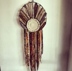 Driftwood and doily dreamcatcher hand made by Driftwood Gypsy