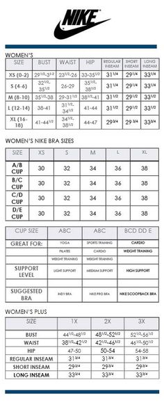 Sport bra size chart breeze clothing for Alfani mens shirt size chart
