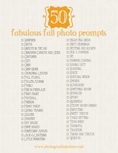 50 fabulous fall photo prompts!