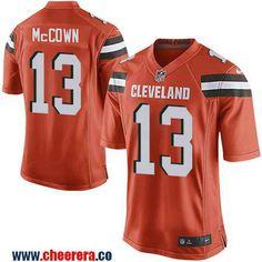 Men's Cleveland Browns #13 Josh McCown Orange Alternate Stitched NFL Nike Elite Jersey