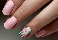 dizayn-nogtey2017 (192) Floral Nail Art, Spring Nails, Heartbeat, Pedicure, Fingers, Nail Designs, Make Up, Beautiful, Dope Nails