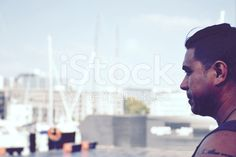 Pacific Island Man in Soft Light royalty-free stock photo