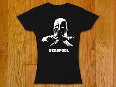 Deadpool surprised  Woman t-shirt  New Deadpool by GeeksDragons