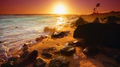 Hawaiian Beach Sunset 3