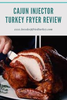 Check out the review of the Cajun Injector Electric Turkey Fryer, a top-quality turkey deep fryer designed for indoor use. The Cajun electric deep fryer is designed for turkeys and other large cuts of meat and can be used for indoor, or outdoor use. #cajun #turkey #thanksgiving #home #food #deepfried #south #southern #southerncooking #kitchen #oil #fried