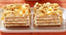 Apfel-Keks-Schnitte mit Mandelhaube ist ein Rezept mit frischen Zutaten aus der Kategorie Apfelkuchen. Probieren Sie dieses und weitere Rezepte von EAT SMARTER!