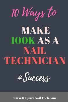 10 Ways to Make PER Year as a Nail Technician HOT off the Press! Make more money as a Nail Technician. Mobile Nail Salon, Home Nail Salon, Mobile Nails, Nail Salon Decor, Nail Technician Salary, Mobile Nail Technician, Nail Technician Courses, Nail Technician License, Nailart