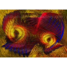 Eagle Eyes - By John Robert Beck  This art was created in 2010. Eagle Eyes is an abstract piece.  ARTIST NOTE:  As this piece of art was developed, it reminded me of eagles so hence the name. - J.B. $3.00