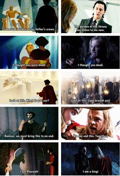 Prince of Egypt vs. The Avengers... That's cool!