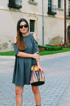 #outfit Off The Shoulder Dress, ethnic bag More on: http://www.littleblackcoconut.com/2016/07/off-shoulder-dress.html