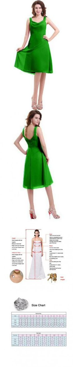 Sunvary Woman Spaghetti Straps Chiffon Short Cocktail Party Dress Bridesmaid Dress US Size 8- Green This dress is Made-To-Order. In order to make the most suitable dress, please measure yourself as the how to measure Image, use the Size Chart Image on the left and send us your height without shoes and with shoes. We will contact you to confirm the measurements details. If no reply from you, we w... #Sunvary #Apparel
