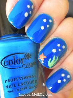"""""""Under the Sea"""" nail art. I could probably actually do this!"""