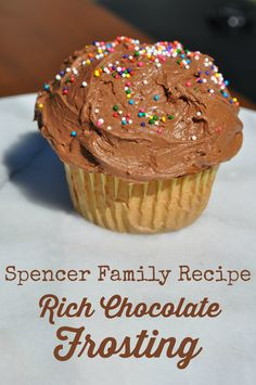 Rich Chocolate Frosting: This recipe for Rich Chocolate Frosting has been a family favorite for generations. Not a birthday celebration goes by without it!