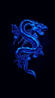 Blue Dragon wallpaper by Stylish_pics - - Free on ZEDGE™ Dragon Wallpaper Iphone, Wallpaper Iphone Neon, Iphone Wallpaper Tumblr Aesthetic, Black Aesthetic Wallpaper, Blue Aesthetic Grunge, Blue Aesthetic Pastel, Dark Blue Wallpaper, Blue Wallpapers, High Hd Wallpaper