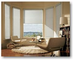 You've selected your fabric style and color. Now it's time to determine how much light control you need. Although you can adjust the vanes - from wide open to fully closed - to control the amount of light and view through, any Hunter Douglas Pirouette Window Shading can be ordered in two different opacities to suit the mood of your room.