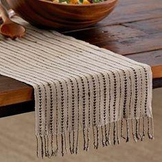 Peace Pyramid Organic Silk Table Runner