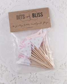 Girly Girl Pink Damask and Polka dot Toothpick by bitsofbliss