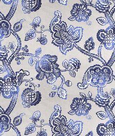 Braemore Lovina Indigo Fabric - $30.45   onlinefabricstore.net