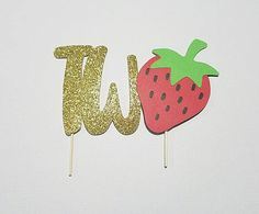 Dress up your cake with this tutti frutti topper Cake topper is approximately from 5.5 inches long Artworks by FluffyFoxDesign.etsy.com