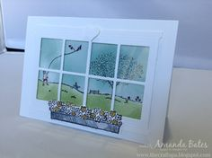 The Craft Spa - Stampin' Up! UK independent demonstrator : Happy Home - Double Scene in a Double Window card