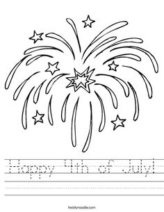 patriotic fireworks usa coloring page kids children 4th july flag