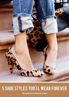 The 5 classic shoe styles that will never go out of style. // #shoes #fashion