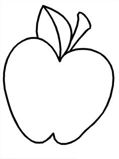 Kids could decorate this with red glitter, scraps of red paper and/or cellophane, finger paint or crayons and watery paint. You could put this print out in a plastic box and dip an apple in paint and roll it back and forth to make a pattern. The apple can still be eaten after you've washed it.
