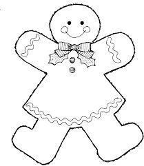 """Résultat de recherche d'images pour """"gingerbread girl coloring pages"""""""