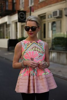 Cute and colorful peplum top