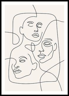 Flower Abstract Line Art Print, Minimalist Art Print (Digital Print) - Minimal… - Pink abstract print large abstract painting print pink yellow abstract art print … Pink abstract - Abstract Face Art, Abstract Canvas Art, Pink Abstract, Abstract Drawings, Simple Art Drawings, Arte Inspo, Face Lines, Kunst Poster, Art En Ligne