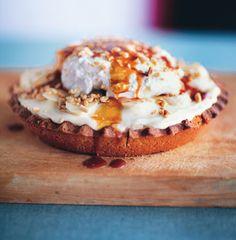 Banana Cream Pie with Salty Bourbon Caramel Recipe  at Epicurious.com