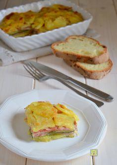 sformato di patate zucchine e prosciutto gp