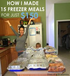 15 Freezer Meals for $150