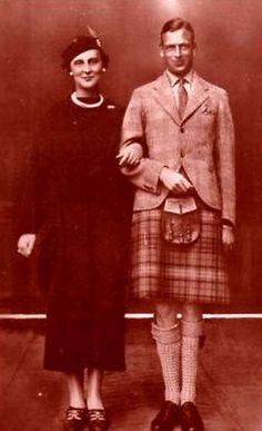 Prince George de Grande-Bretagne et d'Irlande, duc de Kent 1902-1942 et sa fiancée la princesse Marina de Grèce et de Danemark 1906-1968
